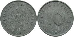 World Coins - GERMANY: 1943-B 10 Reichspfennig