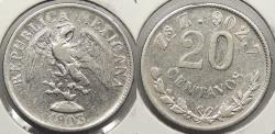 World Coins - MEXICO: Zacatecas 1903-Zs Z 20 Centavos
