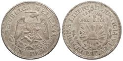 World Coins - MEXICO Guerrero Taxco, City of 1915 Peso Choice AU