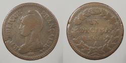 World Coins - FRANCE: L'an 5 (1796)-A Decime