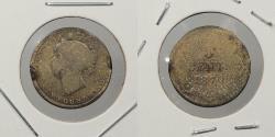 World Coins - CANADA: Newfoundland 1870 Victoria 5 Cents