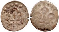 World Coins - GERMAN STATES Strasbourg Civic Issue (Free imperial city) 1262-1681 Bracteate Pfennig (Brakteat) 'Lilienpfennig' ND (Ca. 1400) EF