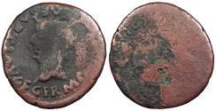 Ancient Coins - Spain Baetica Romula Germanicus, as Caesar 15 B.C. - 19 A.D. Semis About Fine