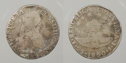 World Coins - BOLIVIA: 1830-PTS JL 2 Soles