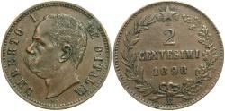 World Coins - ITALY: Victor Emmanuel III 1892 R 2 Centesimi