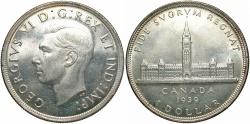 World Coins - CANADA: 1939 Royal Visit 1 Dollar