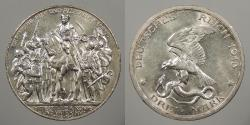 World Coins - GERMAN STATES: Prussia 1913 Centennial of Napoleon defeat. 3 Mark