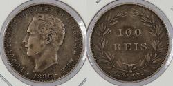 World Coins - PORTUGAL: 1886 100 Reis