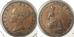 World Coins - GREAT BRITAIN: 1855 1/2 Penny
