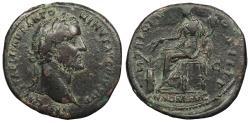 Ancient Coins - Antoninus Pius 138-161 A.D. Sestertius Rome Mint Good Fine