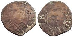 World Coins - SPAIN Aragon Jaime II 1291-1327 Dinero (Diner) VF