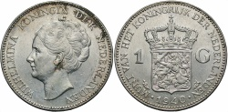 World Coins - NETHERLANDS: 1940 1 Gulden