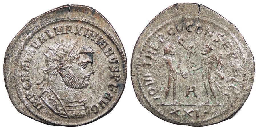 Ancient Coins - Maximianus First Reign: 286-305 A.D. Antoninianus Antioch Mint EF