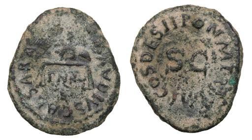 Ancient Coins - Claudius 41-54 A.D. Quadrans Rome Mint Good VF