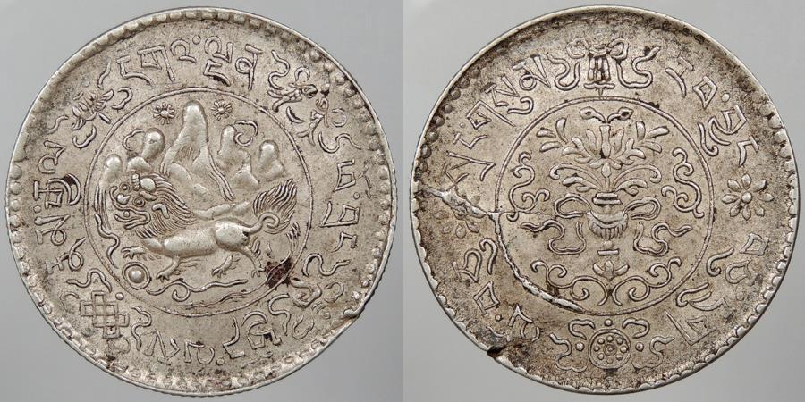 World Coins - TIBET: BE 16-10 3 Srang