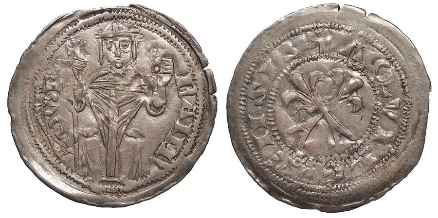 World Coins - ITALIAN STATES Aquileia  Raimondo della Torre 1273-1298 Denaro  Good VF