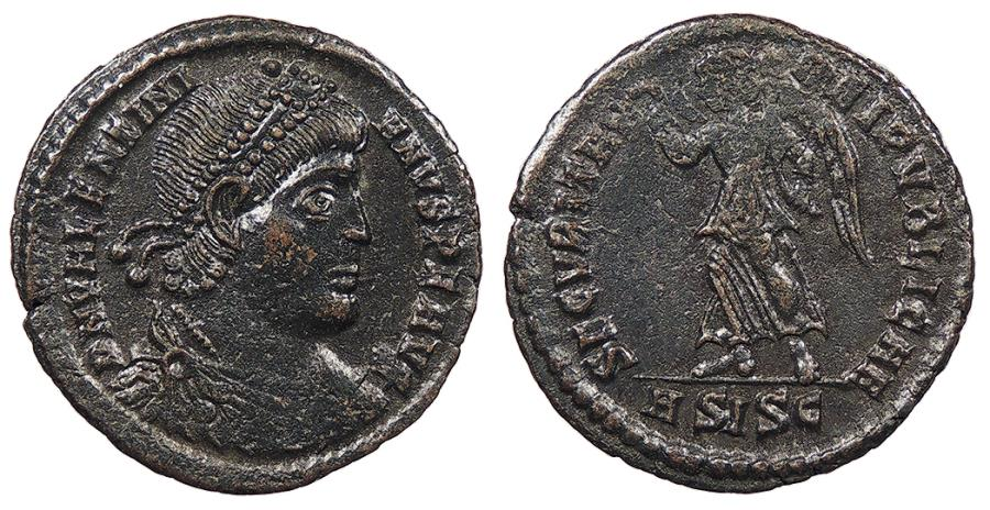 Ancient Coins - Valentinian I 364-375 A.D. AE3 Siscia Mint EF