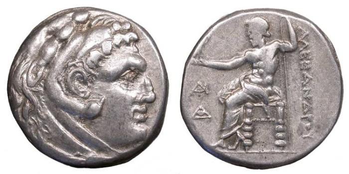 Ancient Coins - Kings of Macedon Alexander III (the Great) 336-323 B.C. Tetradrachm Nice VF