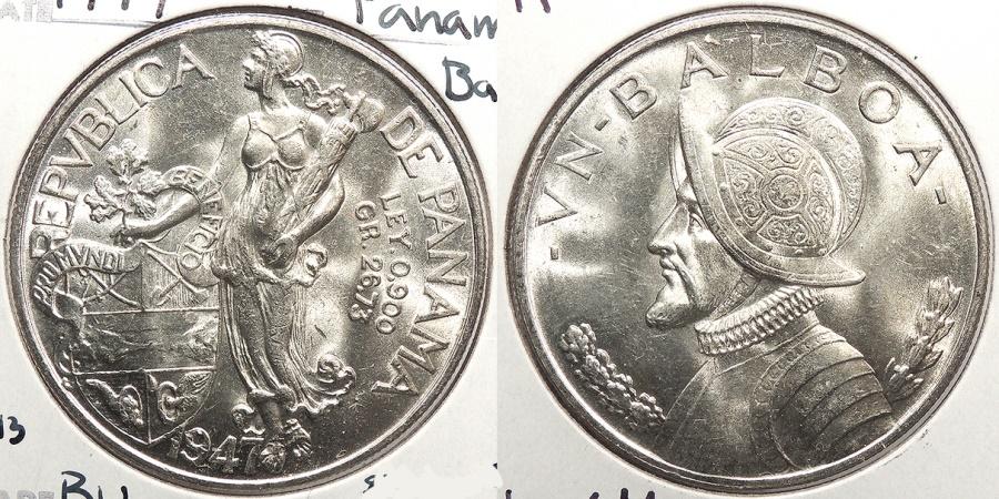 World Coins - PANAMA: 1947 Balboa