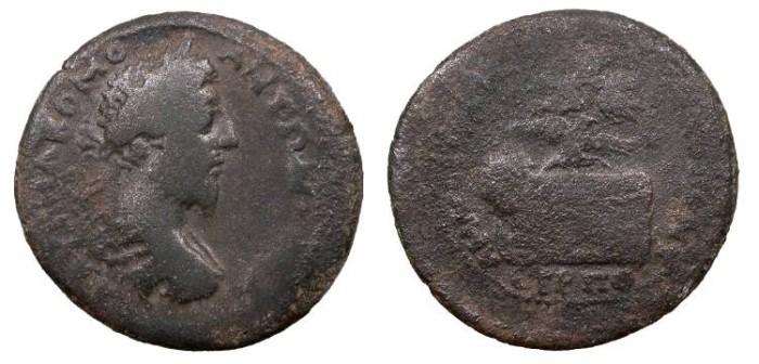 Ancient Coins - Pontos Amaseia Commodus 177-192 A.D. AE34 About Fine