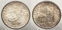 World Coins - CUBA: 1952 50 year commemorative. 20 Centavos