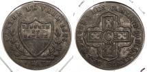 World Coins - SWISS CANTONS: Vaud 1828 Batzen