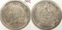 World Coins - COLOMBIA: 1881-BOGOTA 50 Centavos