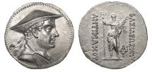 Ancient Coins - Kings of Baktria Antimachos I Theos 174-165 B.C. Tetradrachm Superb EF