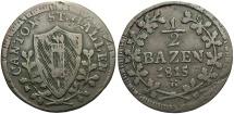 World Coins - SWISS CANTONS: St. Gallen (canton) 1815 1/2 Batzen