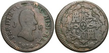 World Coins - SPAIN: 1814 J 8 Maravedis