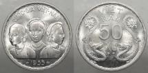 World Coins - VIETNAM: South Vietnam 1953 Three women. 50 XU
