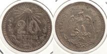 World Coins - MEXICO: 1906-Mo 20 Centavos