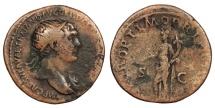 Ancient Coins - Trajan 98-117 A.D. Dupondius Rome Mint Near VF