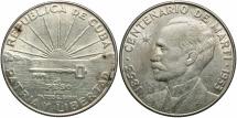 World Coins - CUBA: 1953 1 Peso