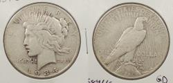 Us Coins - 1934 S Peace 1 Dollar (Silver)