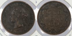 World Coins - CANADA: 1881-H Victoria Cent
