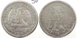 World Coins - MEXICO: 1874-Pi H 50 Centavos