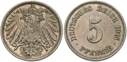 World Coins - GERMANY: 1915 G 5 Pfennig