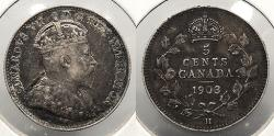 World Coins - CANADA: 1903-H 5 Cents