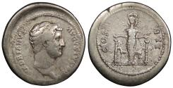 Ancient Coins - Hadrian 117-138 A.D. Cistophoric Tetradrachm Unidentified Mint C (Ephesus in Ionia?) Good Fine