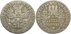 World Coins - GERMAN STATES: Hamburg 1728 4 Schilling