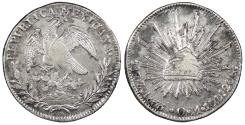 World Coins - MEXICO 1833-Zs OM 8 Reales AU