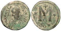 Ancient Coins - Anastasius 498-517 A.D. Follis Constantinople Mint Fine