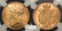 World Coins - GREAT BRITAIN Victoria 1838 Half Sovereign NGC MS-64