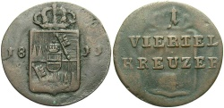 World Coins - GERMAN STATES: Wurzburg 1811 1/4 Kreuzer