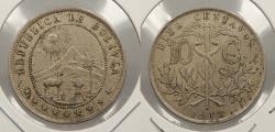 World Coins - BOLIVIA: 1918 10 Centavos