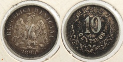 World Coins - MEXICO: 1890-Pi R 10 Centavos