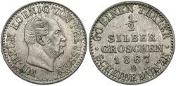 World Coins - GERMAN STATES: Prussia 1867-B 1/2 Groschen
