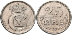 World Coins - DENMARK: 1922 25 Ore