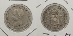 World Coins - SPAIN: 1889 (89)-MP M 50 Centimos